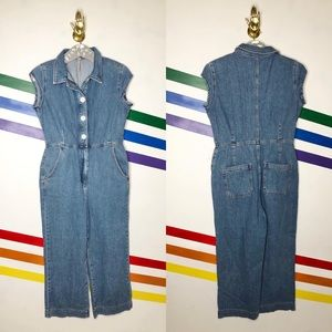 NEW Free People unchained denim jumpsuit